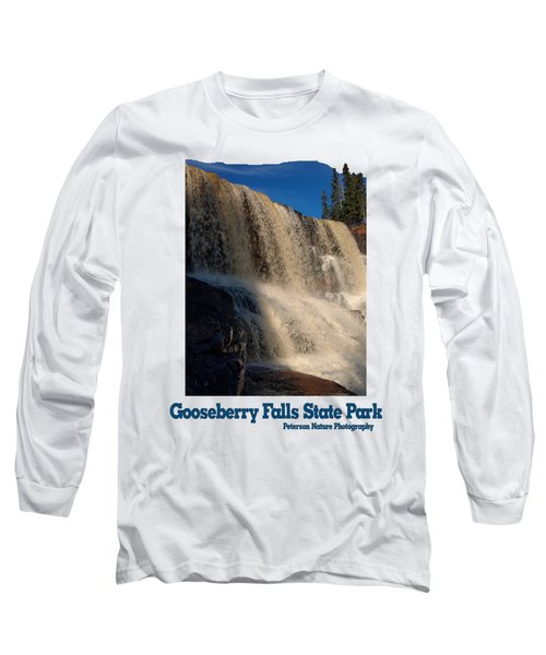 Gooseberry Falls Long Sleeve T-Shirt by James Peterson