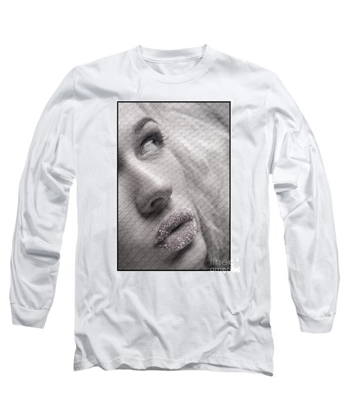 Gorgeous Girl With Sugar On Her Lips Long Sleeve T-Shirt by Michael Edwards