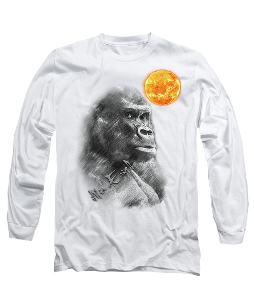 Gorilla Long Sleeve T-Shirt by iMia dEsigN
