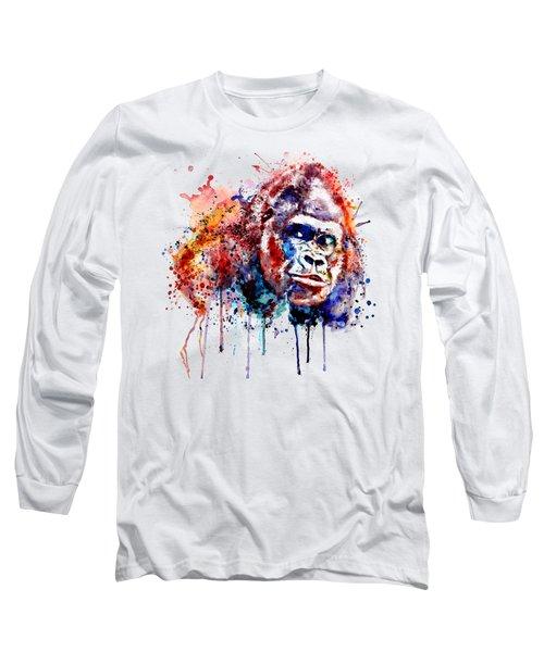 Gorilla Long Sleeve T-Shirt by Marian Voicu