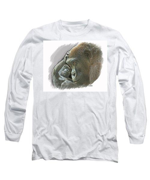 Gorilla Mother Long Sleeve T-Shirt