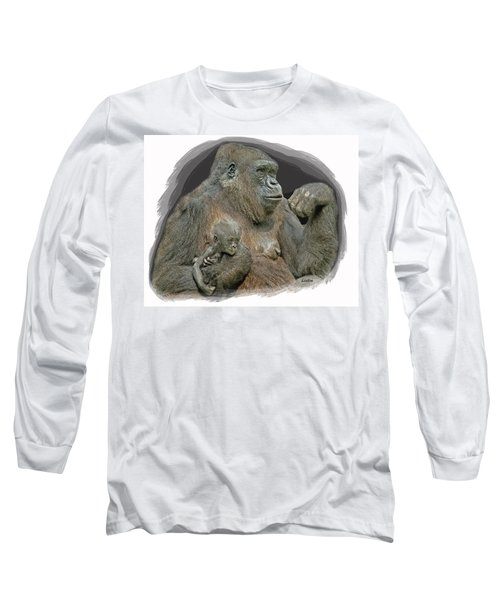 Gorilla Motherhood Long Sleeve T-Shirt