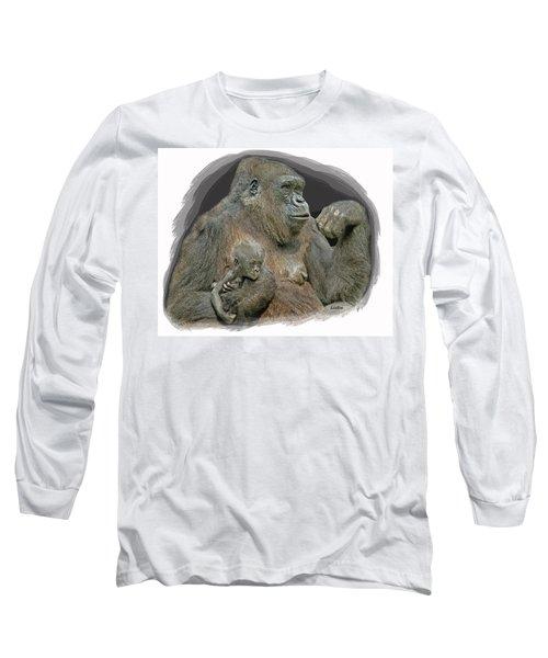 Gorilla Motherhood Long Sleeve T-Shirt
