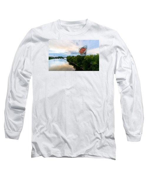 Grain Belt Beer Sign On River Long Sleeve T-Shirt