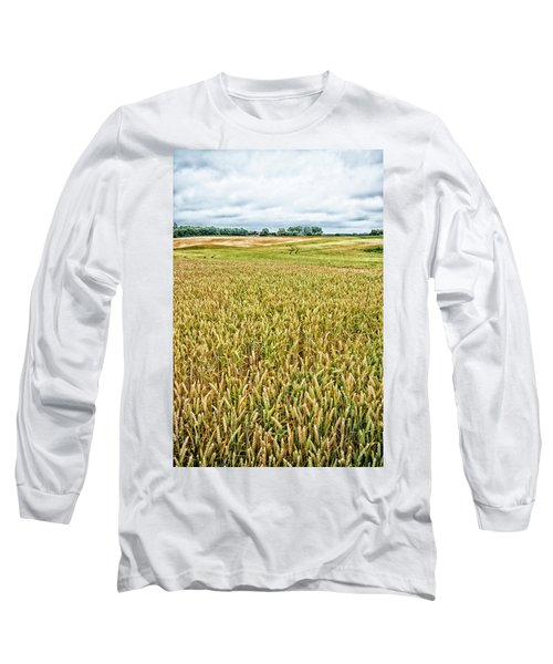 Grain Field Long Sleeve T-Shirt by Hans Engbers