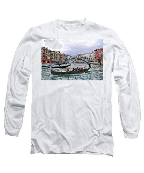 Grand Canal Scene  Long Sleeve T-Shirt