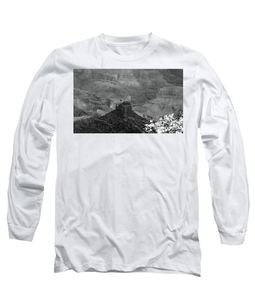 Long Sleeve T-Shirt featuring the photograph Grand Canyon 4 In Black And White by Debby Pueschel