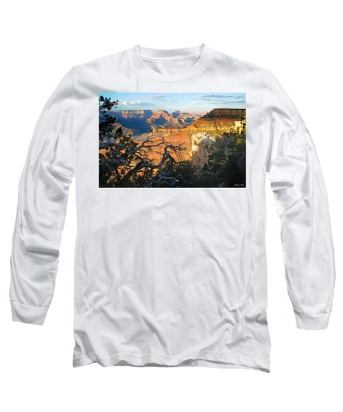 Grand Canyon South Rim - Sunset Through Trees Long Sleeve T-Shirt
