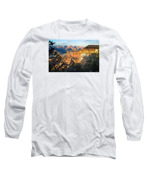 Grand Canyon South Rim - Sunset Through Trees Long Sleeve T-Shirt