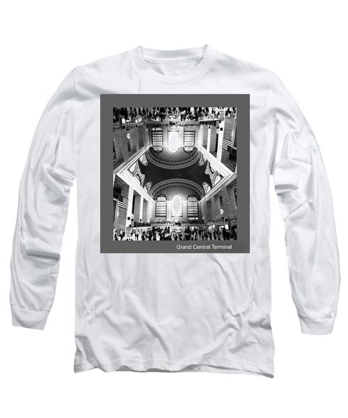 Long Sleeve T-Shirt featuring the photograph Grand Central Terminal Mirrored by Diana Angstadt