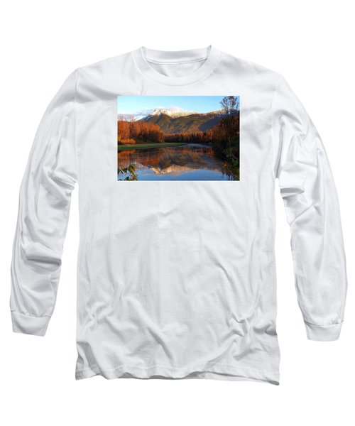 Mount Cheam, British Columbia Long Sleeve T-Shirt by Heather Vopni