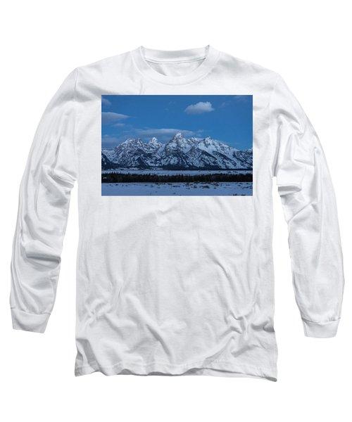 Grand Teton National Park Sunrise Long Sleeve T-Shirt by Serge Skiba