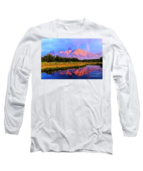Grand Teton Sunrise Long Sleeve T-Shirt