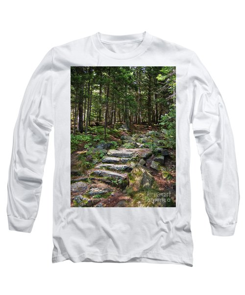Granite Steps, Camden Hills State Park, Camden, Maine -43933 Long Sleeve T-Shirt