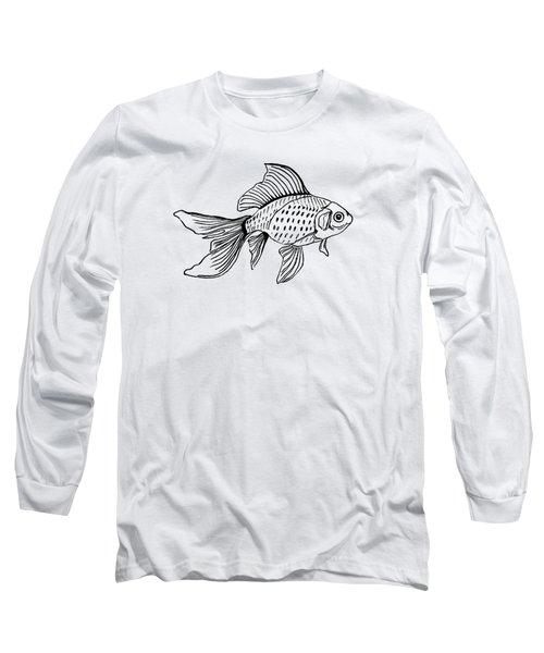 Graphic Fish Long Sleeve T-Shirt by Masha Batkova