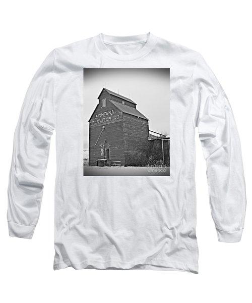 Grass Range Granary Bw Long Sleeve T-Shirt