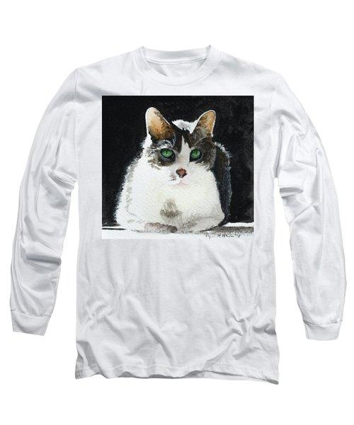 Gray Cat Long Sleeve T-Shirt