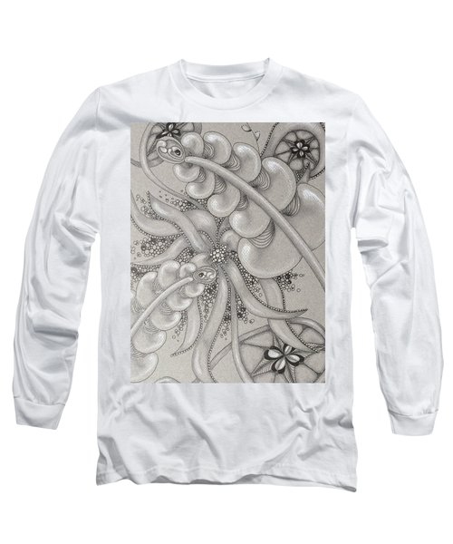 Gray Garden Explosion Long Sleeve T-Shirt