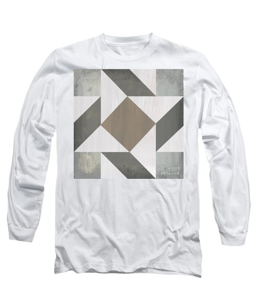 Gray Quilt Long Sleeve T-Shirt