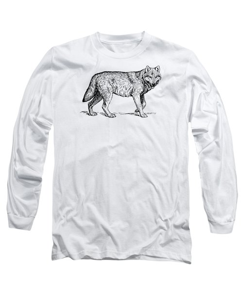 Gray Wolf Timber Wolf Western Wolf Long Sleeve T-Shirt
