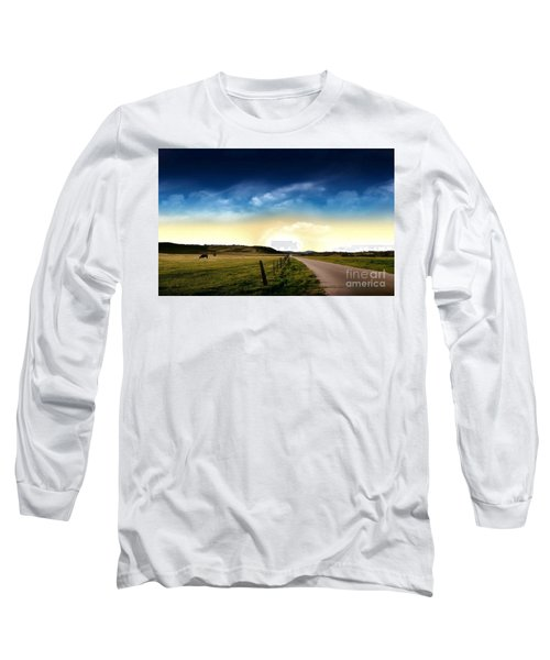 Grazing Time Long Sleeve T-Shirt by Rod Jellison