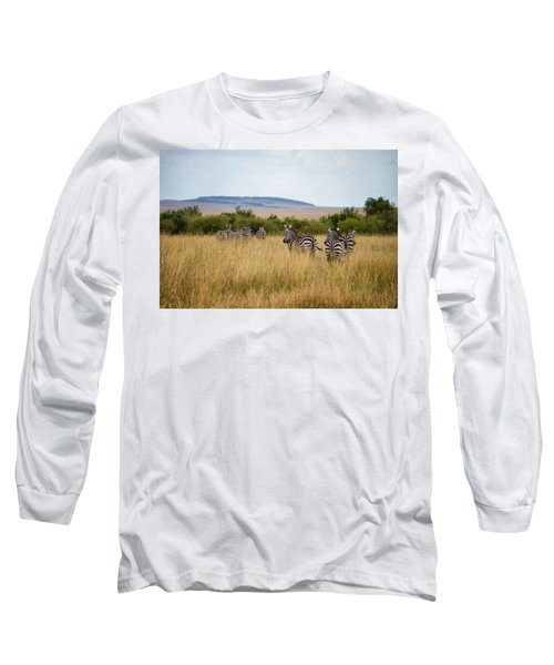 Grazing Zebras Long Sleeve T-Shirt