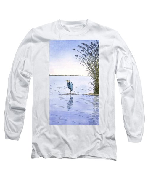 Great Blue Heron Long Sleeve T-Shirt by Charles Harden