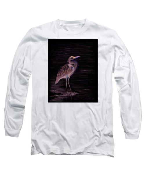 Great Blue Heron Long Sleeve T-Shirt by Phyllis Howard