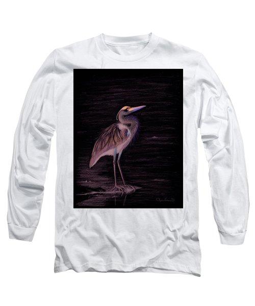 Great Blue Heron Long Sleeve T-Shirt