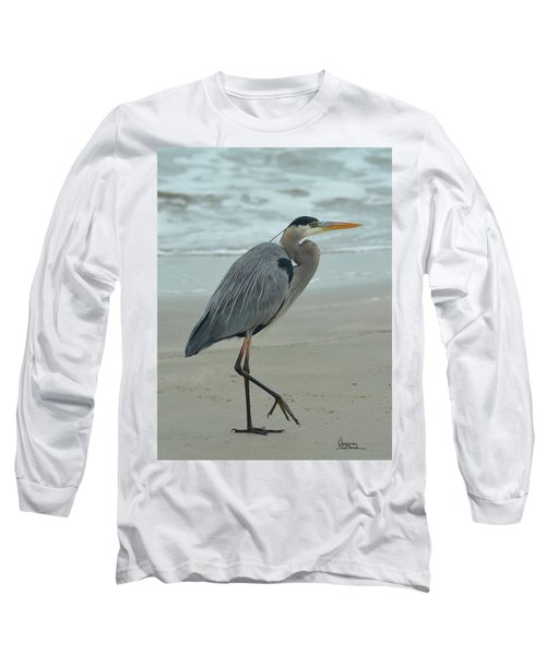 Great Blue Heron  Long Sleeve T-Shirt