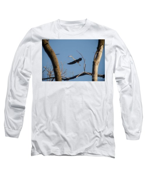 Long Sleeve T-Shirt featuring the photograph Great Blues Nesting by David Bearden