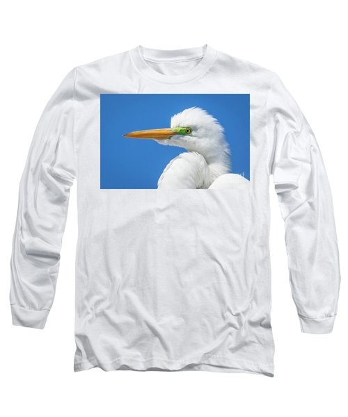 Great Egret Profile Long Sleeve T-Shirt by John Roberts