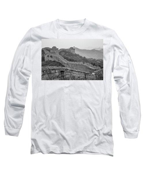 Long Sleeve T-Shirt featuring the photograph Great Wall 7, Jinshanling, 2016 by Hitendra SINKAR