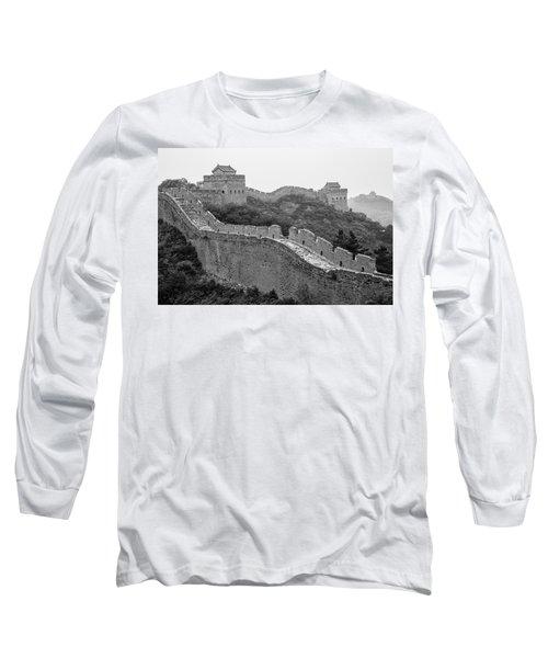 Long Sleeve T-Shirt featuring the photograph Great Wall 8, Jinshanling, 2016 by Hitendra SINKAR