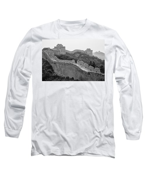 Long Sleeve T-Shirt featuring the photograph Great Wall 8, Jinshanling, 2016 by Hitendra SINKAR