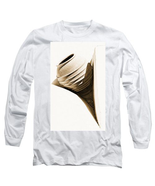 Greek Urn Long Sleeve T-Shirt by Meirion Matthias