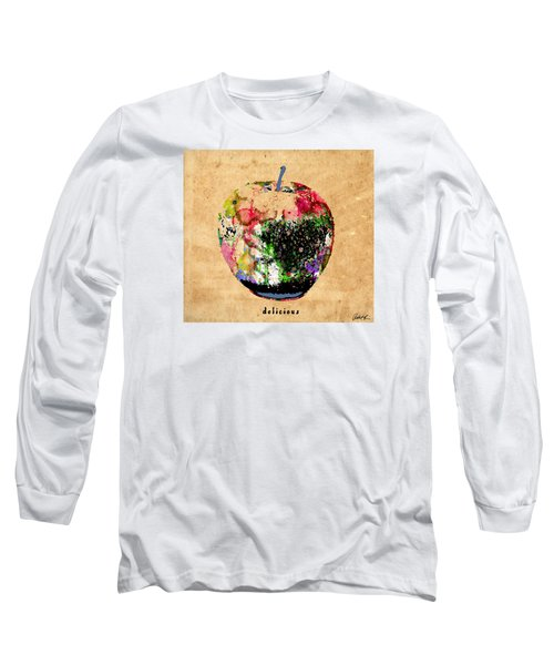 Green Apple Poster Print Long Sleeve T-Shirt