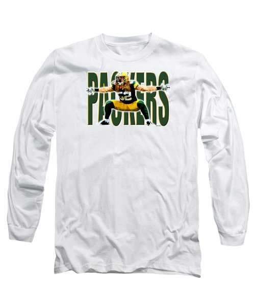 Long Sleeve T-Shirt featuring the digital art Green Bay Packers by Stephen Younts