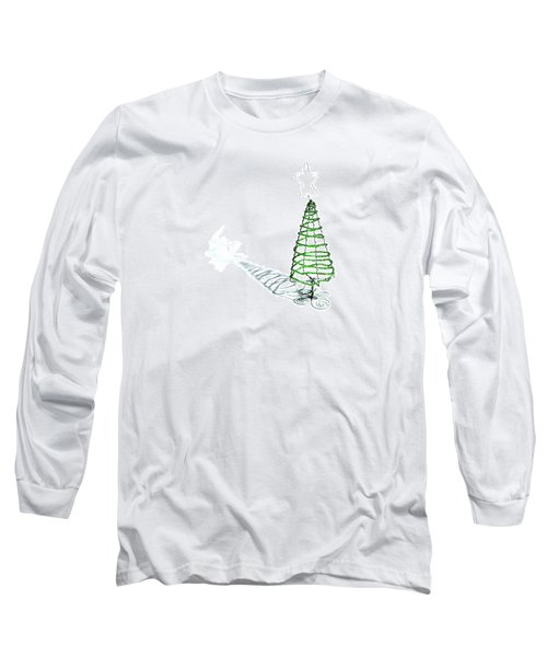 Green Bead Christmas Tree II Long Sleeve T-Shirt