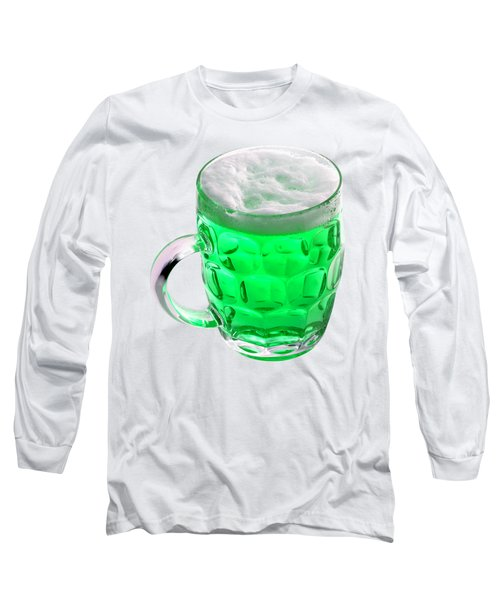 Green Beer Long Sleeve T-Shirt by Stephanie Brock