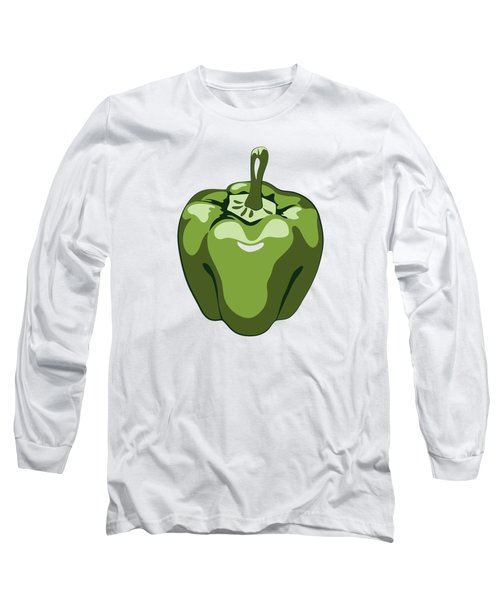 Green Bell Pepper Long Sleeve T-Shirt by MM Anderson