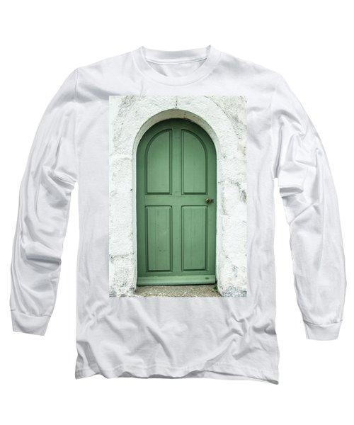Green Church Door Iv Long Sleeve T-Shirt
