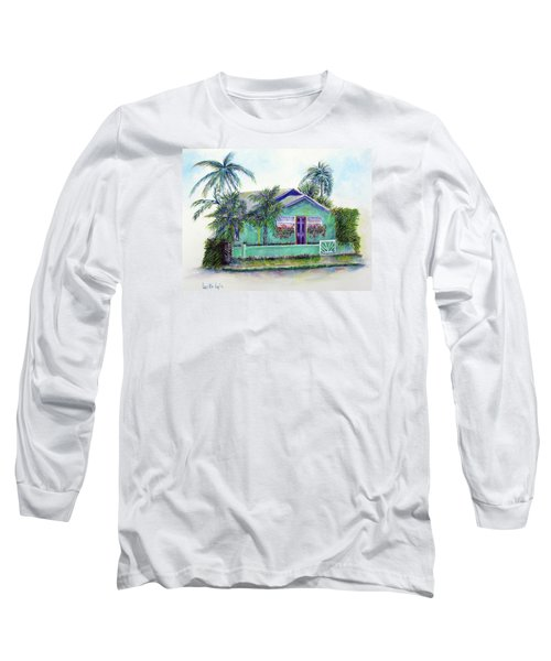 Green Cottage Long Sleeve T-Shirt by Loretta Luglio