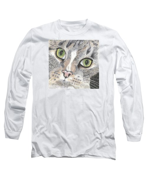 Green Eyes Long Sleeve T-Shirt by Arlene Crafton