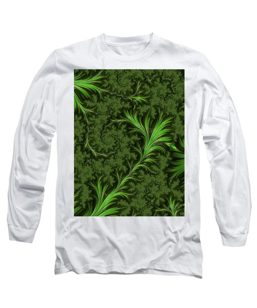 Green Fronds Long Sleeve T-Shirt
