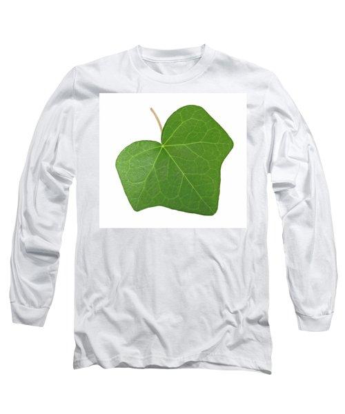 Green Ivy Leaf Long Sleeve T-Shirt by GoodMood Art