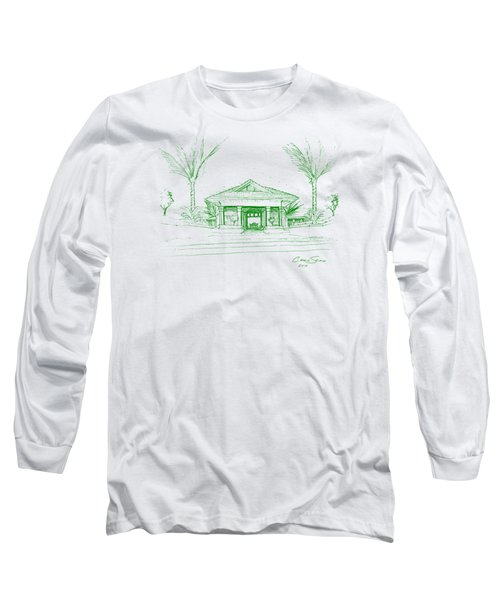 green lines on transparent background 10.28.Islands-8 Long Sleeve T-Shirt