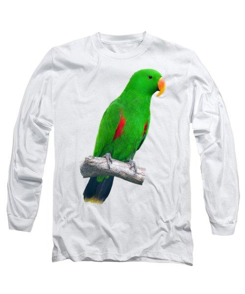 Green Parrot Long Sleeve T-Shirt