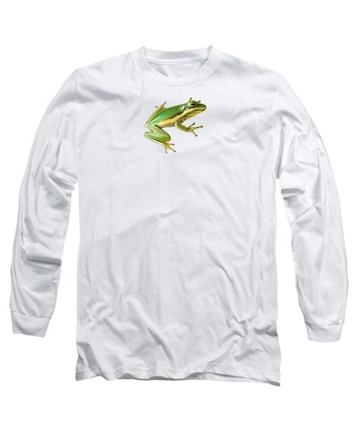 Green Tree Frog Long Sleeve T-Shirt by Sarah Batalka