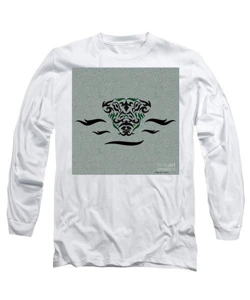 Green Tribal Gator Long Sleeve T-Shirt